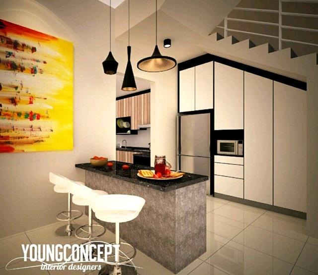 Bar Reka Bentuk Dapur Rumah Di